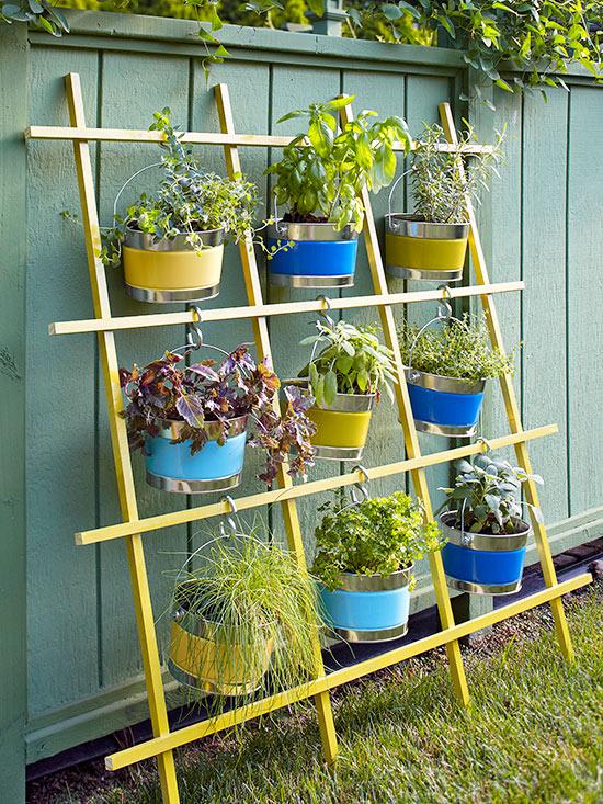 Jardin à conteneurs vertical en treillis