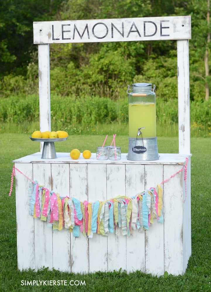 25 effortless diy lemonade stand ideas making your summer for How to build a lemonade stand on wheels