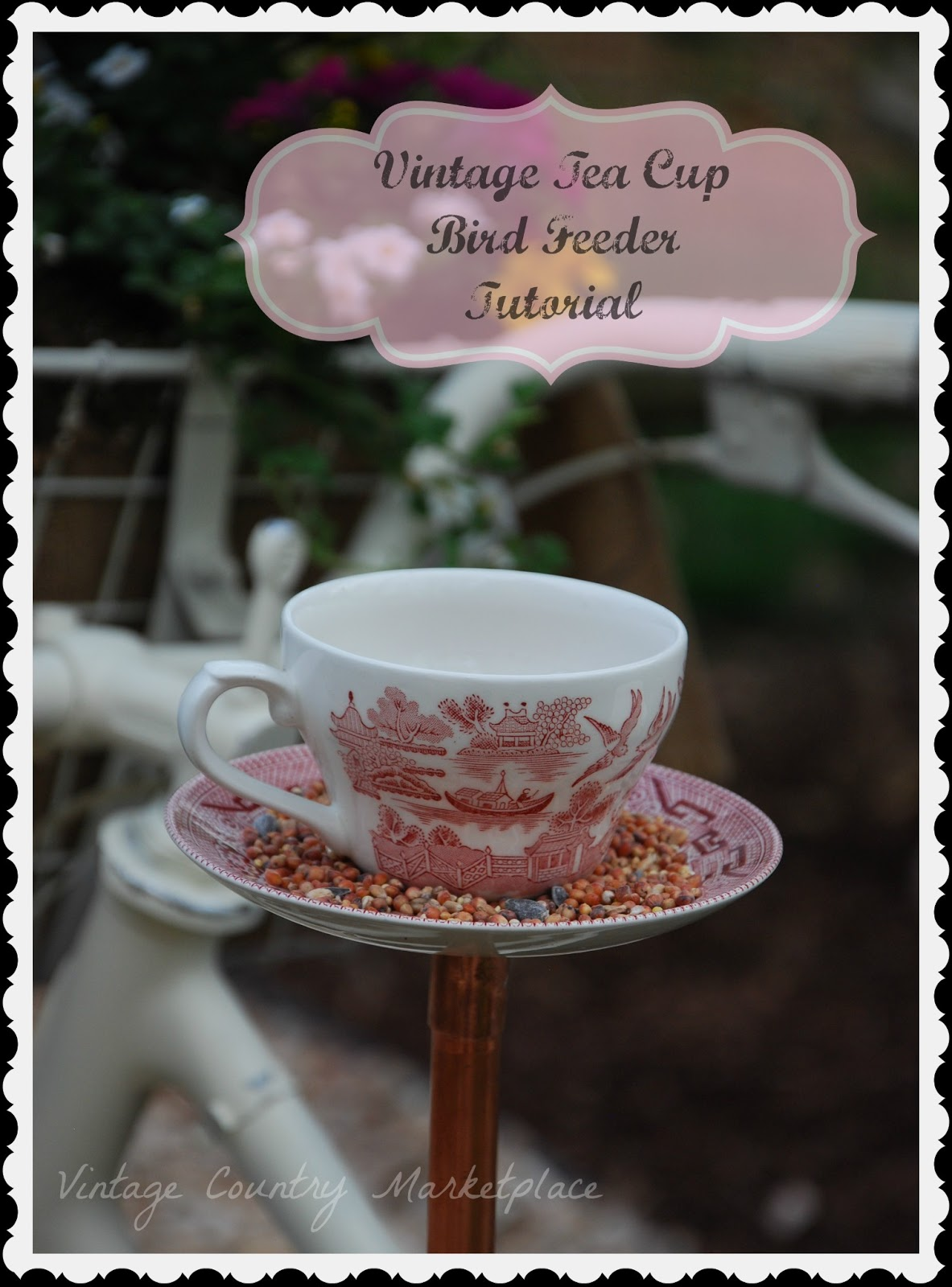 Vintage Tea Cup DIY Bird Feeders