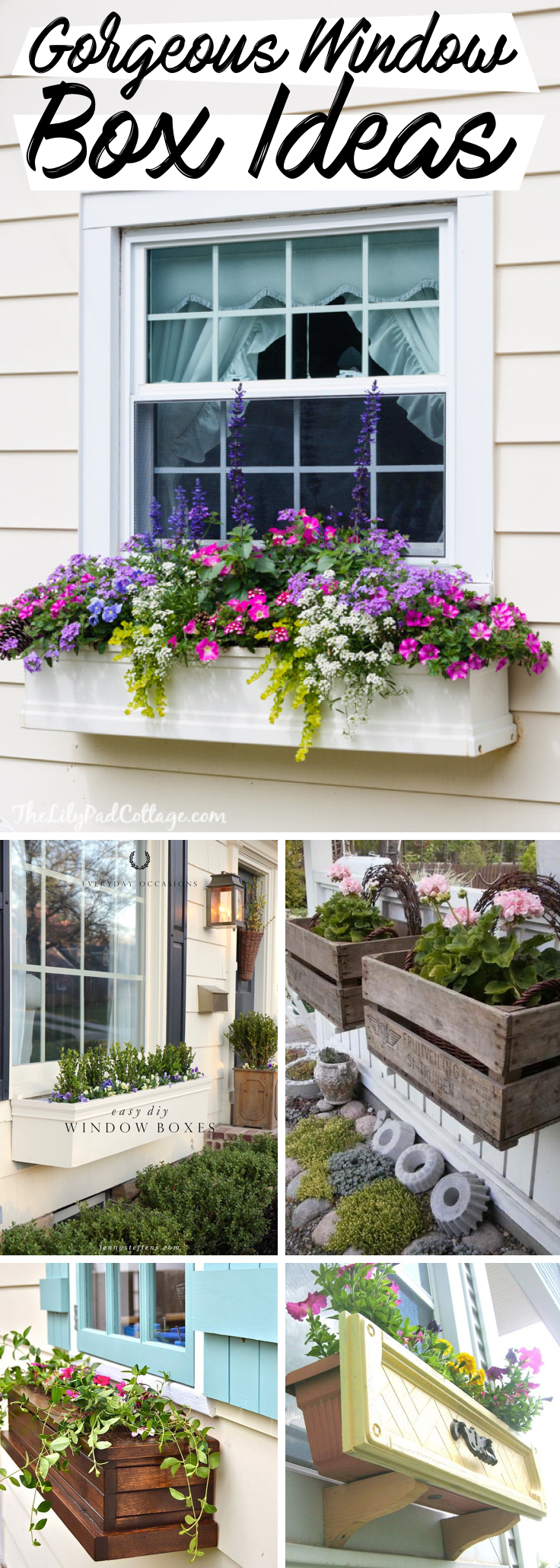 20 Gorgeous Window Box Ideas Adding Floral Magnificence To