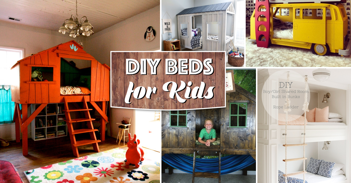 25 Awesome Diy Beds For Kids Bringing Comfy And Cozy Together Cute Diy Projects