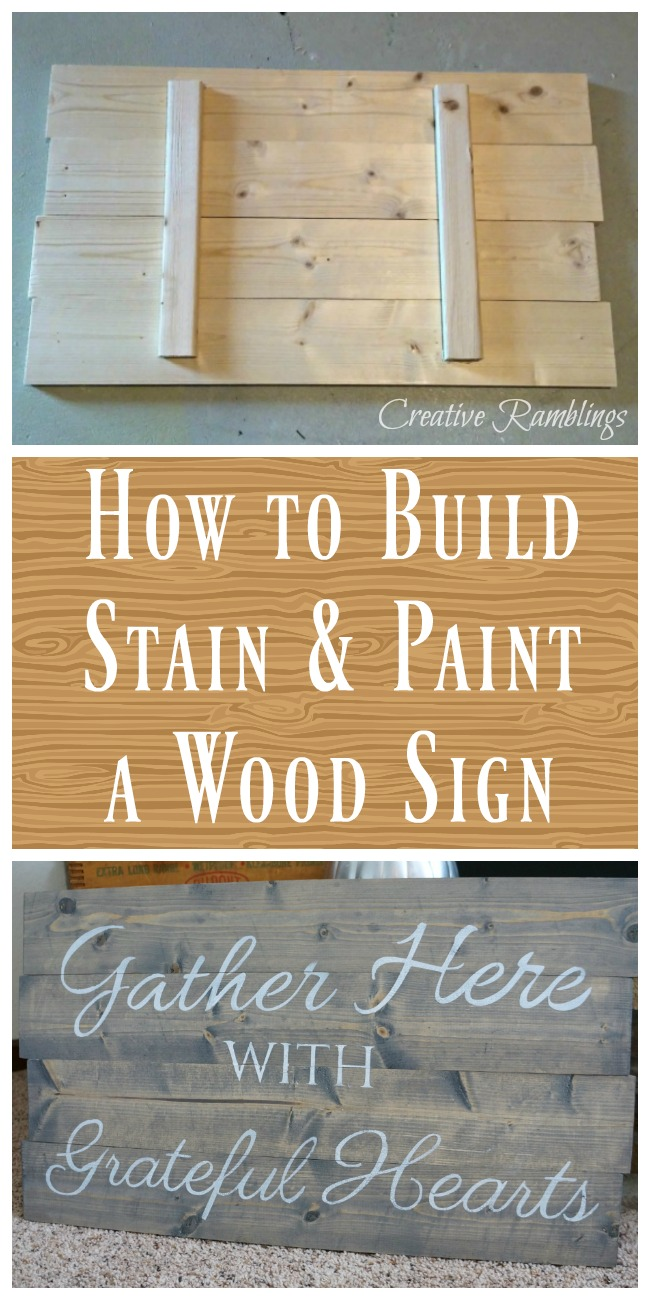 Build and Paint a Wood Sign