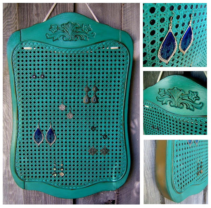 Cane Back Earring Rack