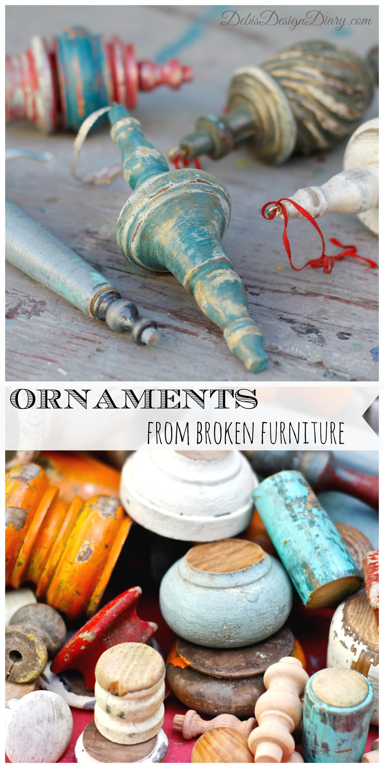 Christmas Ornaments from Broken Chairs