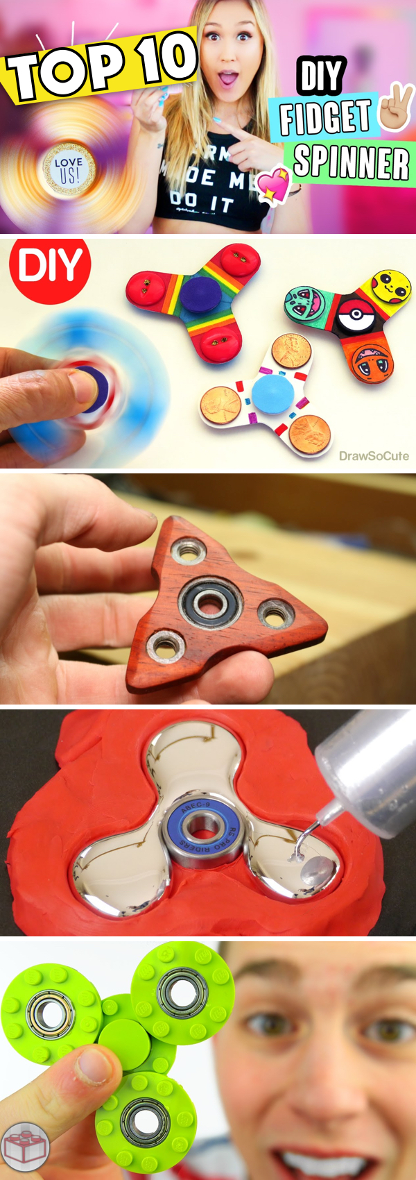 Cool DIY Fidget Spinners