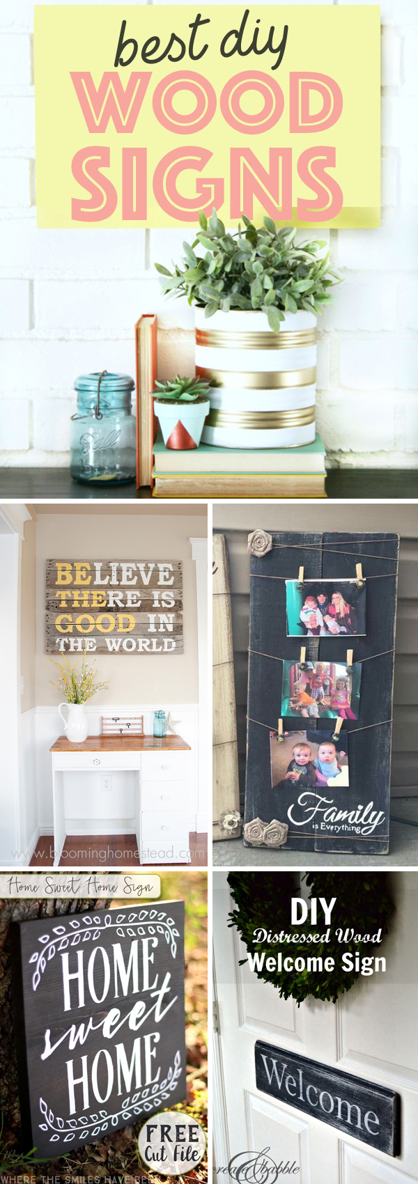 Creative DIY Wood Signs
