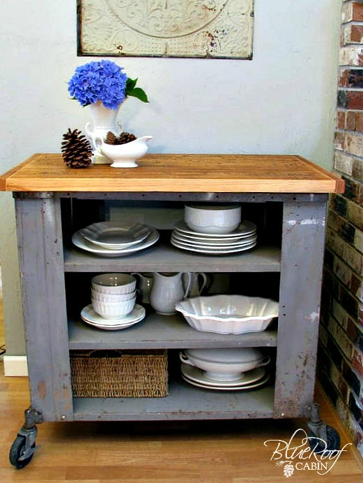 DIY Industrial Kitchen Island