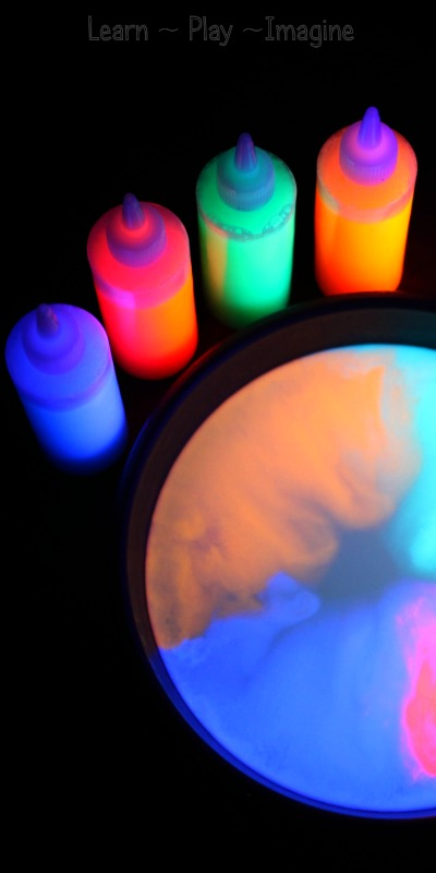 Glowing Magic Milk Experiment Cute Diy Projects