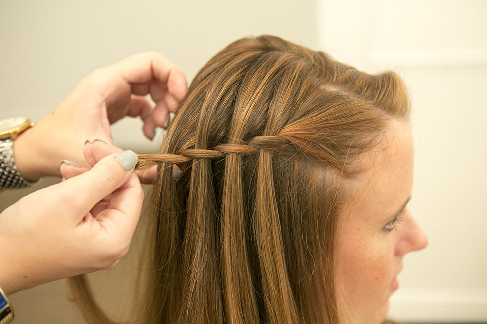 Half-Head Waterfall Braid