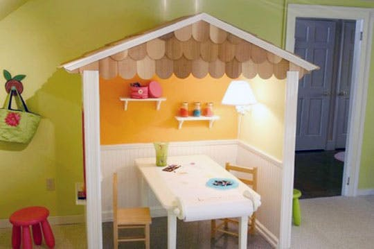 15 DIY Cool Indoor Playhouse Ideas for Kids - Style Motivation