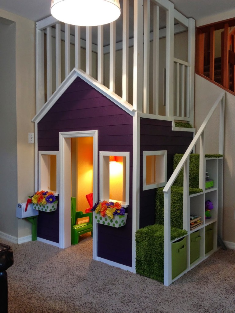 20 Indoor Playhouse Ideas Creating a Whole Little World for ... on diy outdoor playhouse, diy playhouse ideas, diy wooden playhouse,