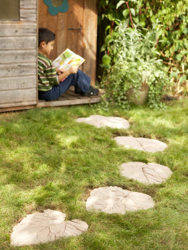 Leaf-Inspired Garden Path