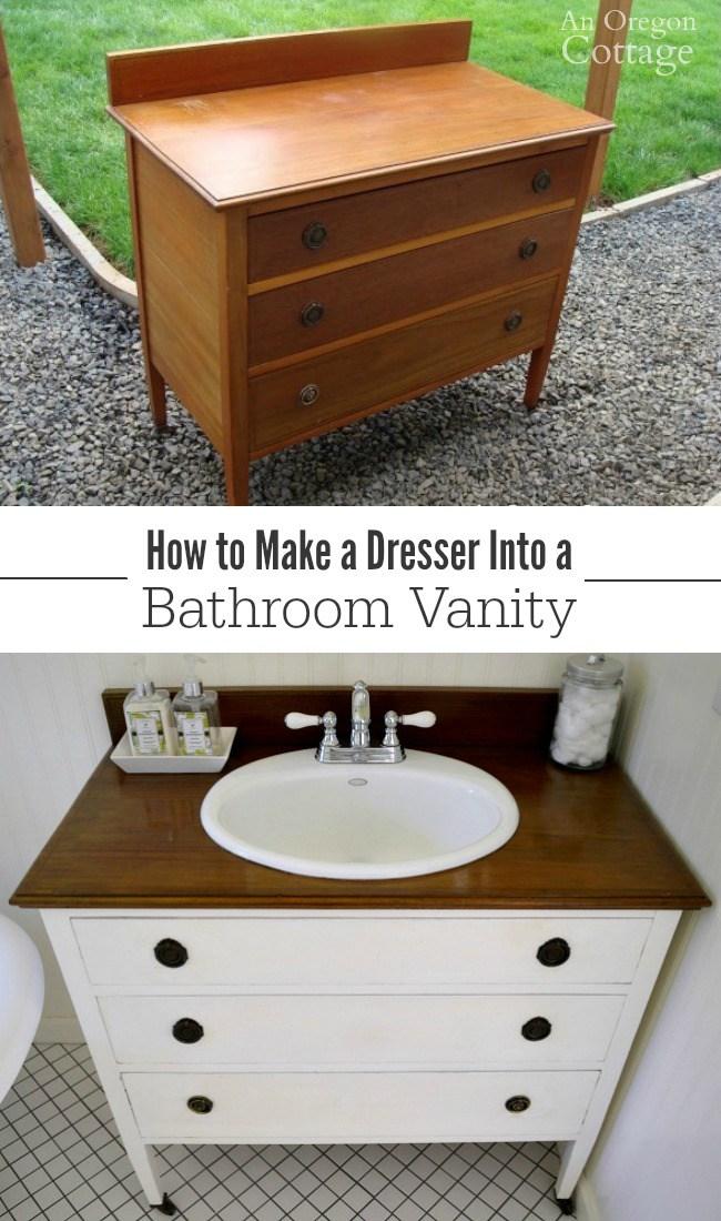 Make a Dresser into a Vanity
