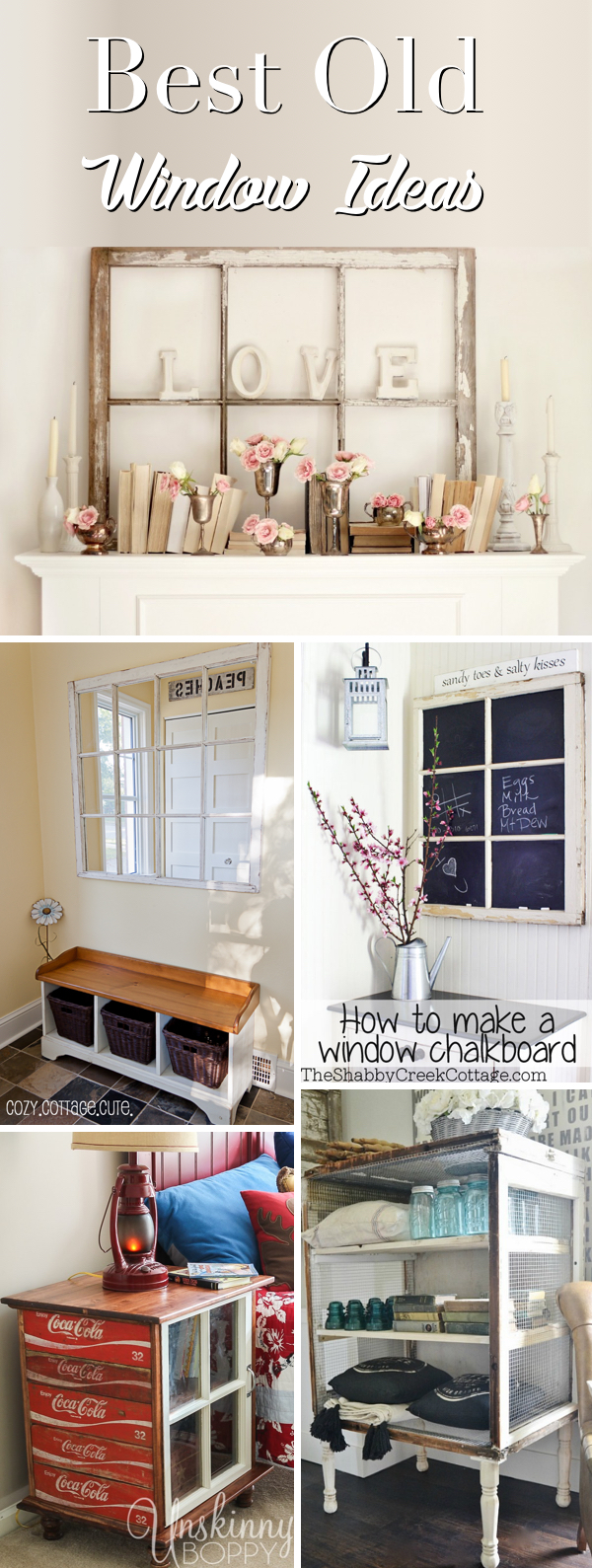 25 Old Window Ideas Transforming Those Frames From Odd to Extraordinary!