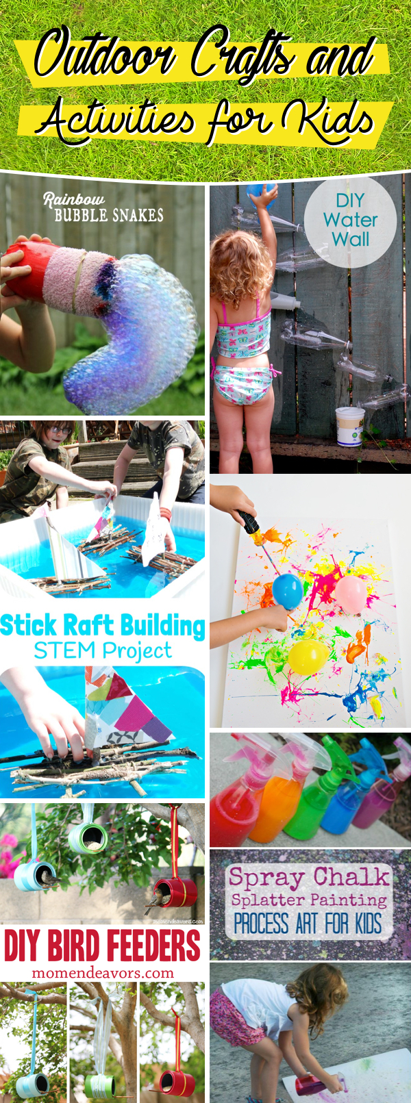 30 Outdoor Crafts And Activities For Kids Letting The