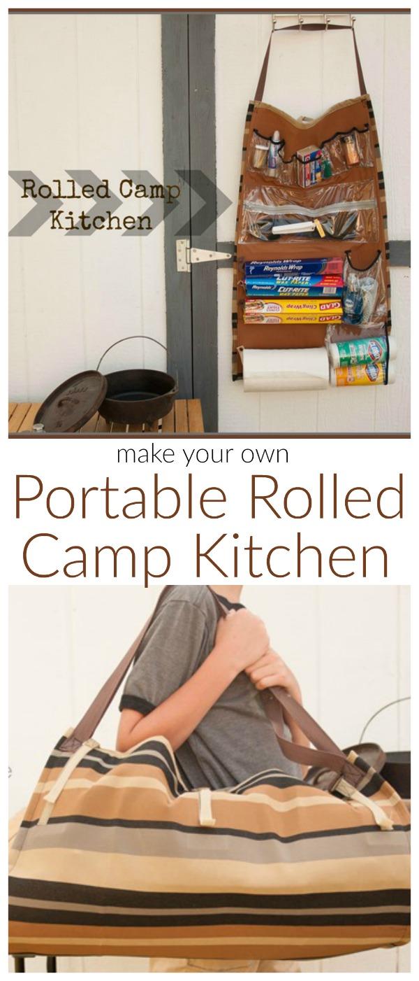 Rolled Camp Kitchen Organizer