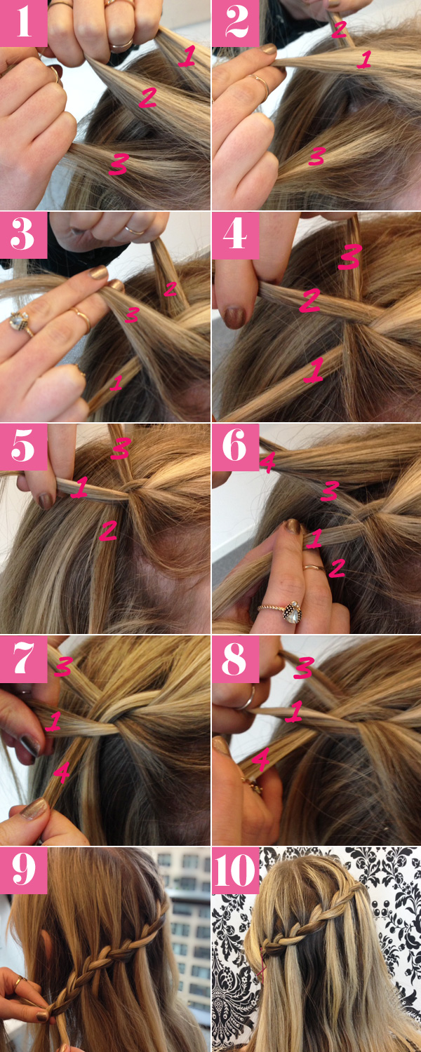 Romantic French Waterfall Braid