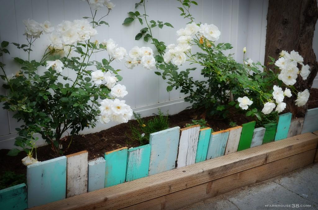 Scrap Wood Garden Edging