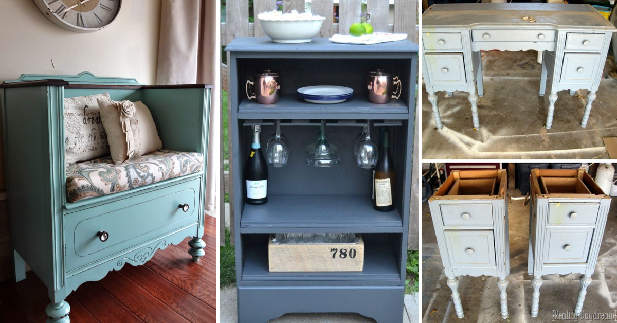 20 Upcycled Furniture Ideas Breathing New Life Into An
