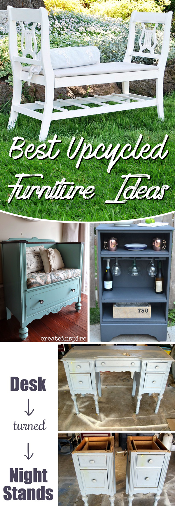 20 Upcycled Furniture Ideas Breathing New Life Into An Exhausted Piece Of Furniture