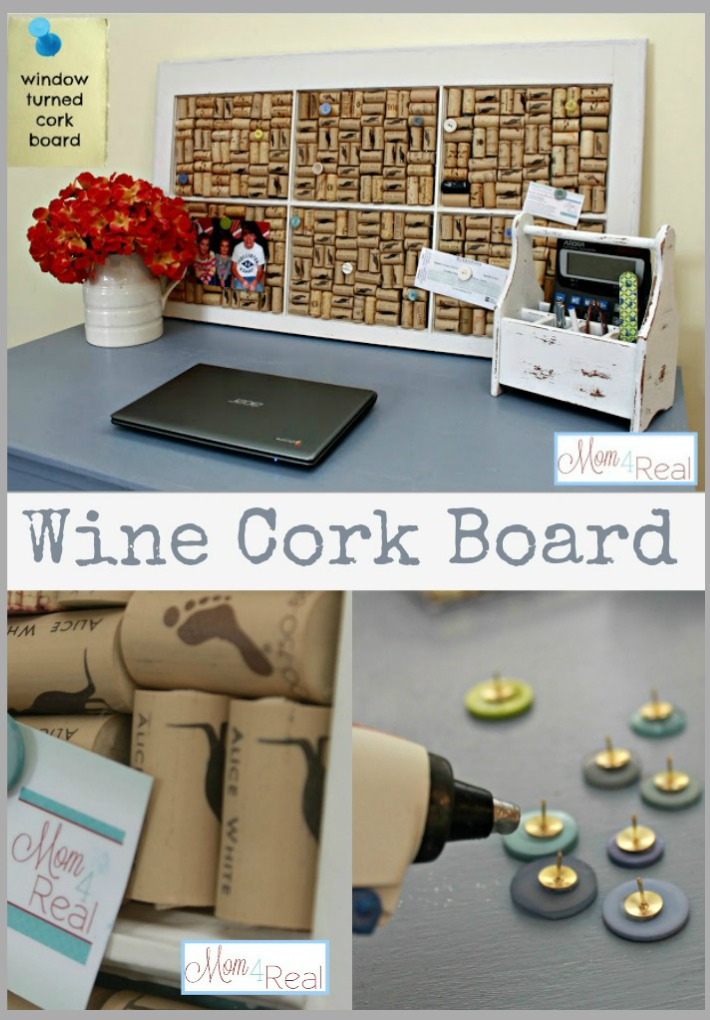 Window Turned Wine Cork Board 25 Old