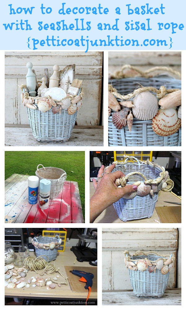 Basket Beauty : DIY Seashell Crafts