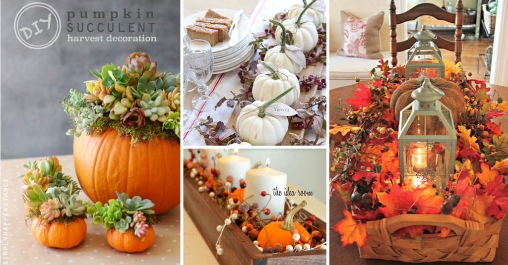 Breathtakingly Beautiful Fall Centerpieces
