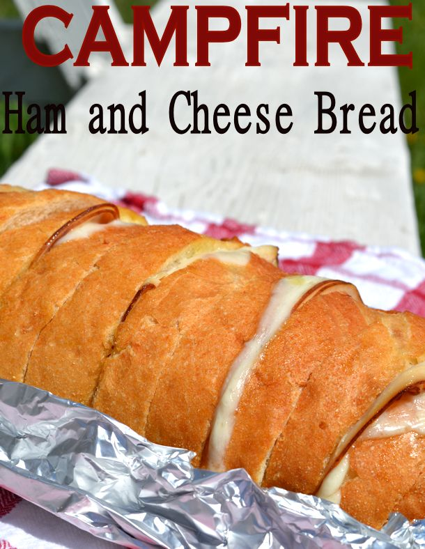 2 Campfire Ham And Cheese Bread