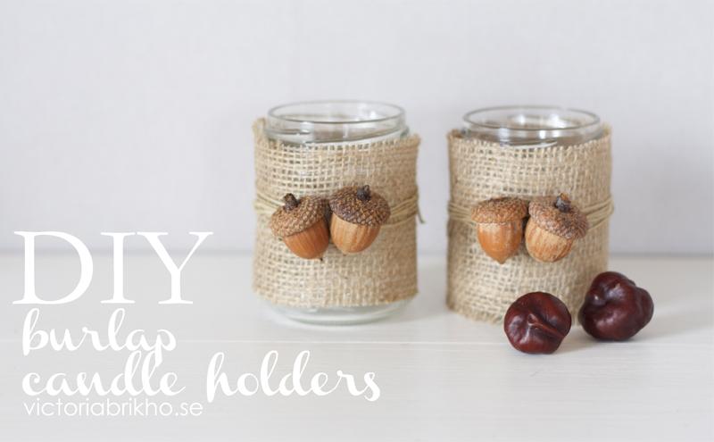 DIY Burlap Candle Holders