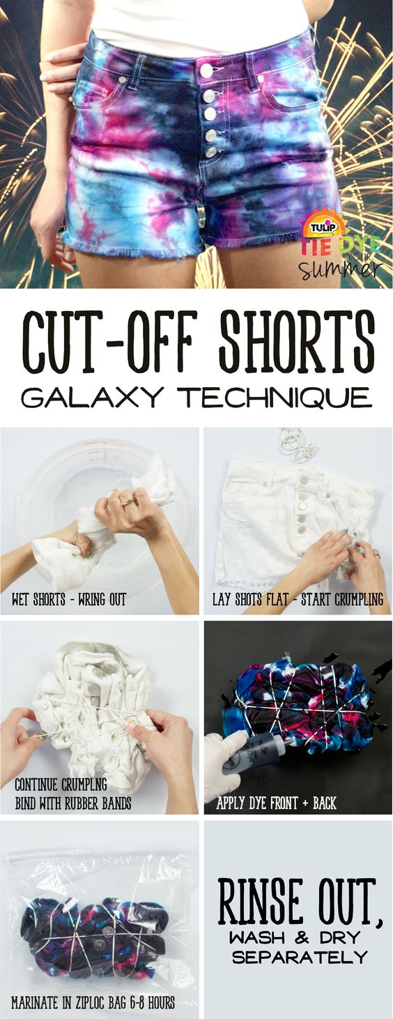 DIY Galaxy Cut-Off Shorts