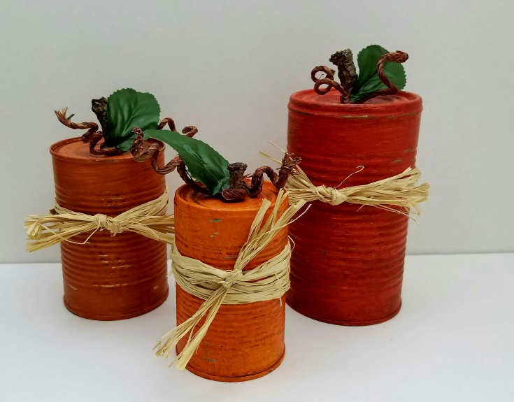 Easy DIY Tin Can Pumpkins