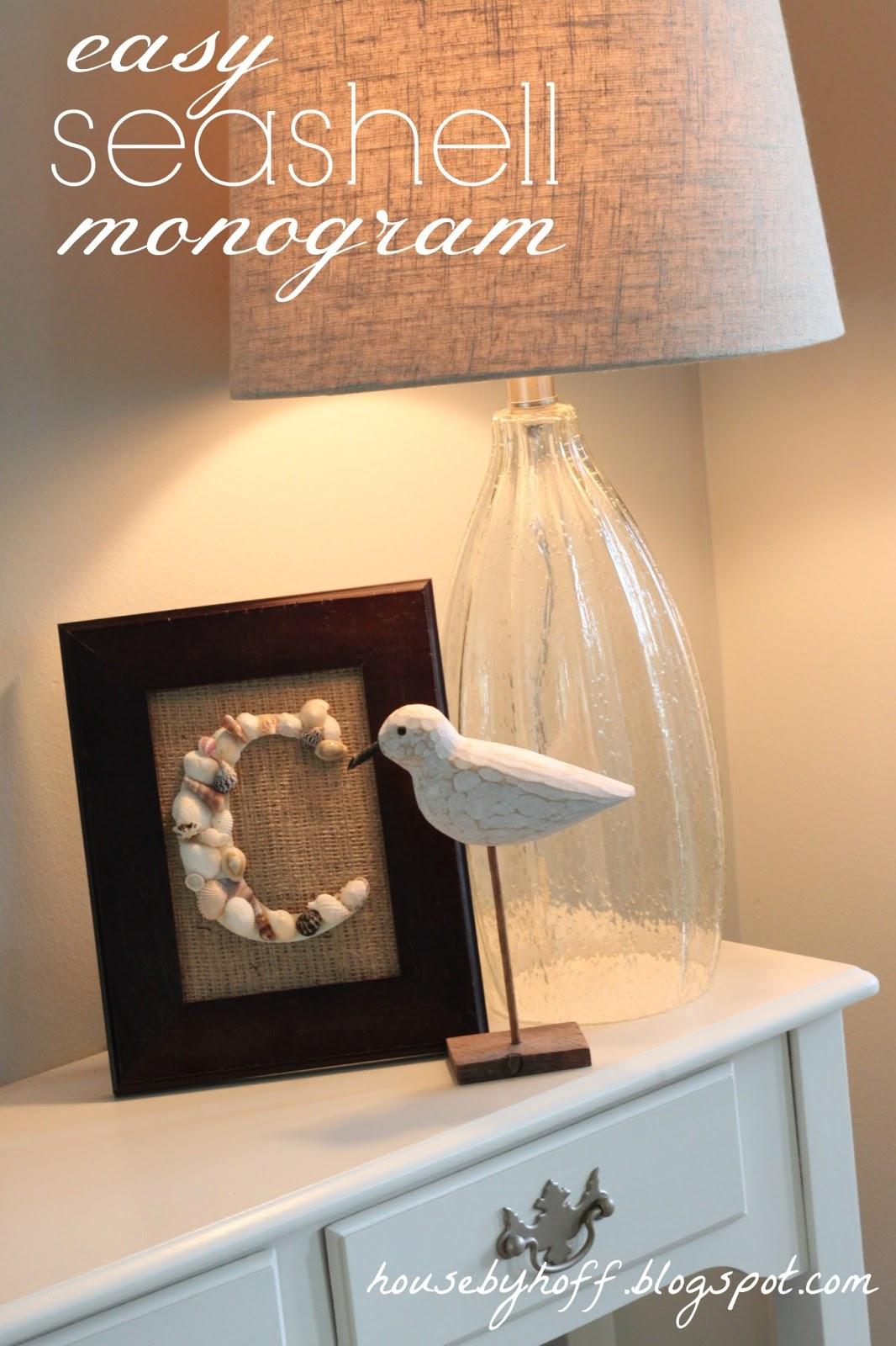 Easy Seashell Monogram