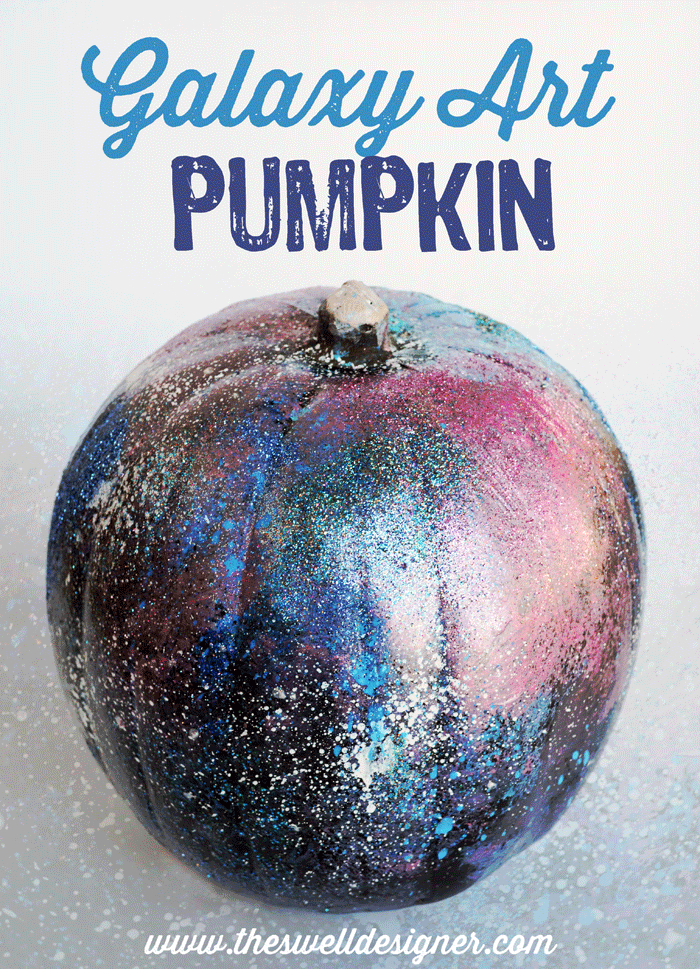 Galaxy Art Pumpkin DIY