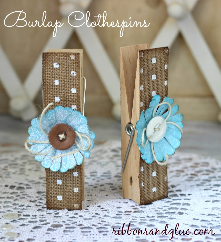 25 ways how burlap decorations can beautify your home with for Decorative pins for crafts