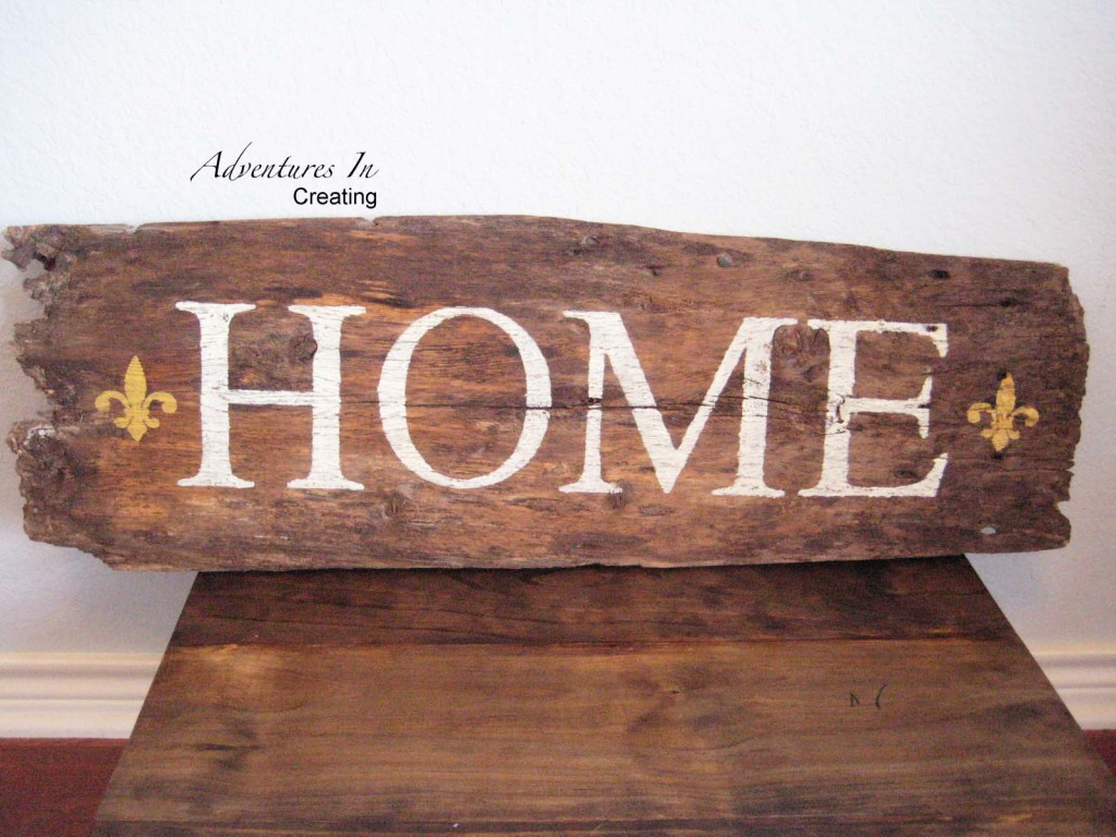 Salvaged Barn Wood Sign
