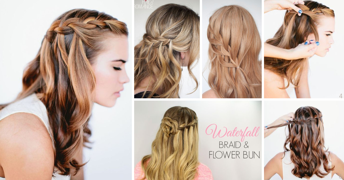 20 Waterfall Braid Tutorials Adding Beautiful Twists And Turns To