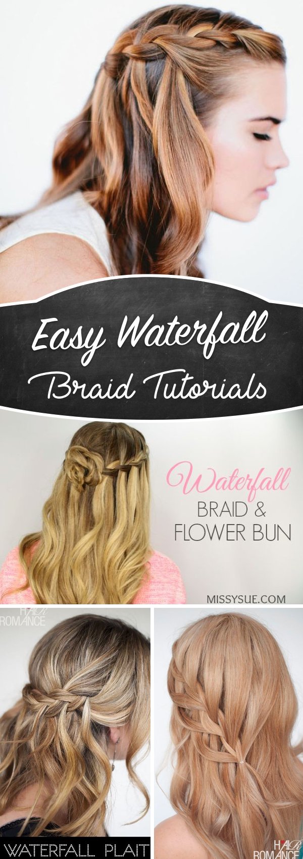 20 Waterfall Braid Tutorials Adding Beautiful Twists And Turns To Your Hair