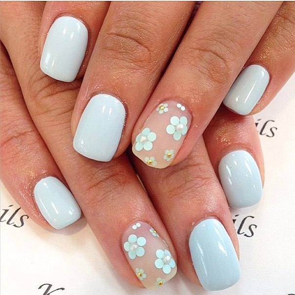 5-Petal Flower Nail Art