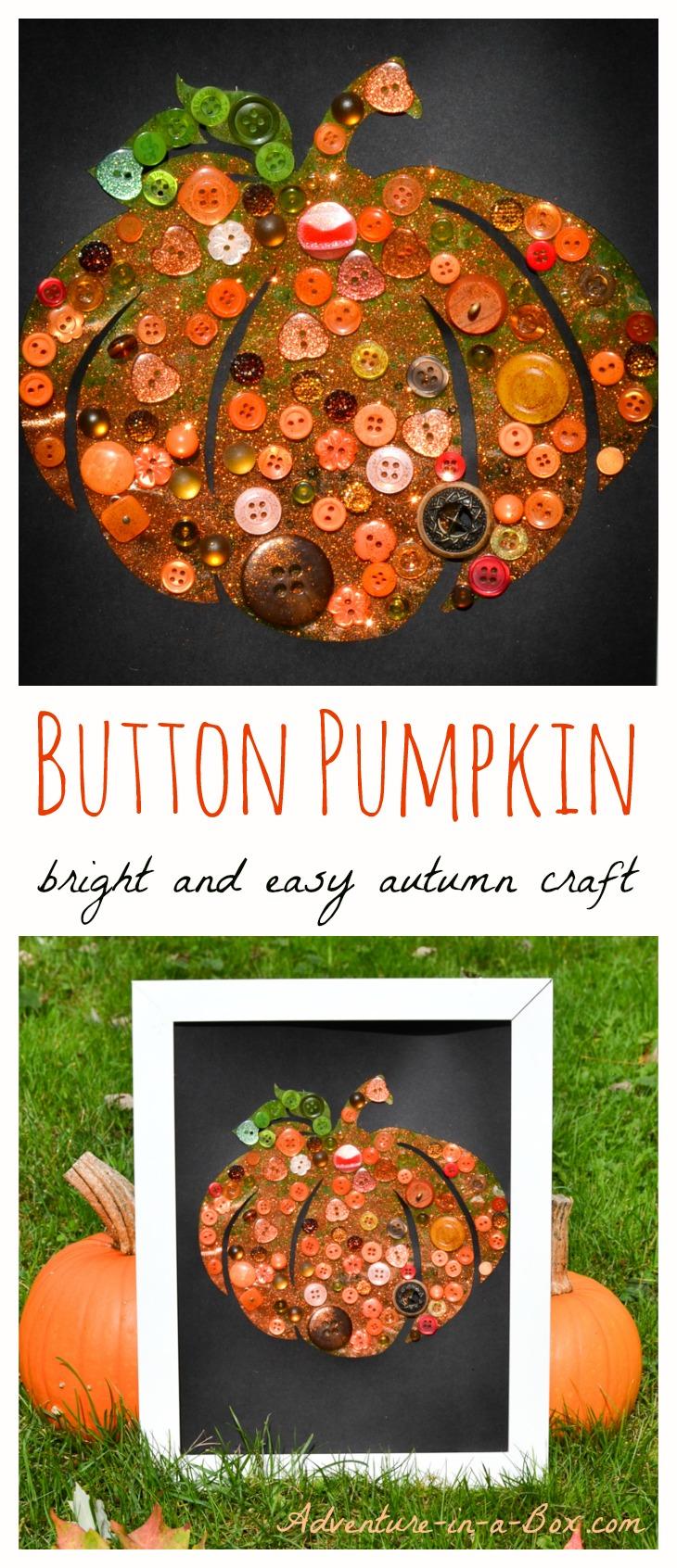 Button Pumpkin: Bright and Easy Autumn Craft