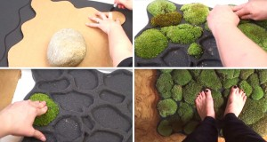 DIY Moss Bath Mat