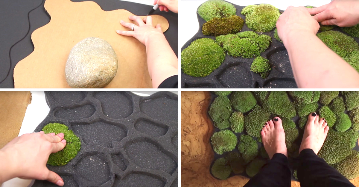 This Diy Moss Bath Mat Brings Self Thriving Lush Greens Inside Your Home Cute Diy Projects