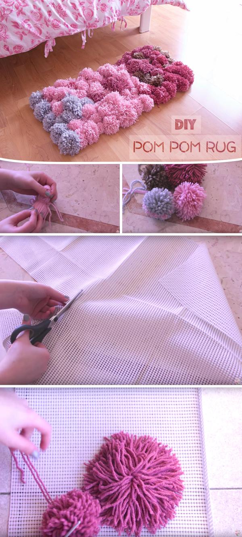 Diy Pom Pom Rug Bedroom Decor Tutorial