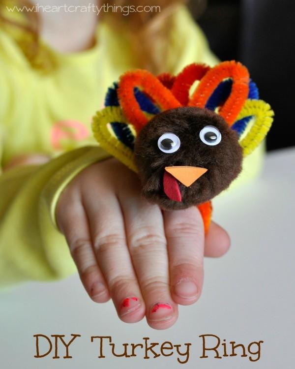DIY Turkey Ring for Kids