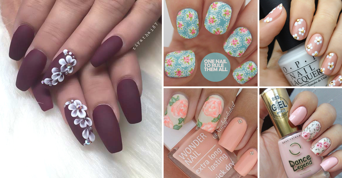25 Delicate Flower Nail Designs Adding Lovely Blooms To Your Fingertips!