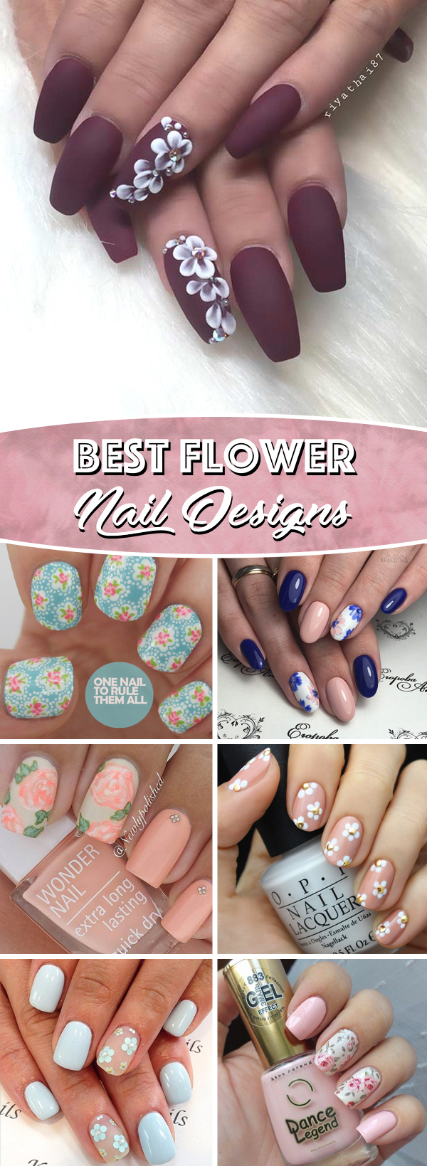 25 Delicate Flower Nail Designs Adding Lovely Blooms To Your Fingertips