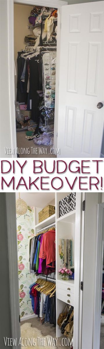Girly-Glam Closet Makeover