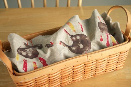 Handmade Bread Basket Liner for Thanksgiving