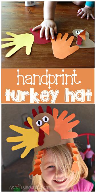 Handprint Turkey Hat for a Thanksgiving Craft