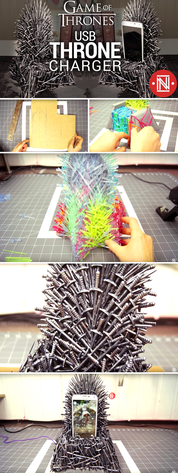 Making a DIY Game of Thrones Iron Throne Phone Charger