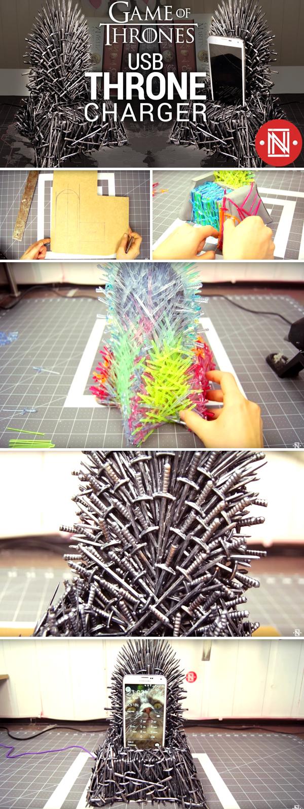 Brilliant Making A Diy Game Of Thrones Iron Throne Phone Charger Creativecarmelina Interior Chair Design Creativecarmelinacom